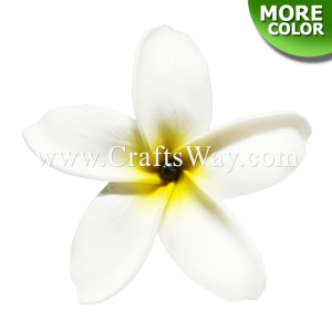FSH173-Pearl Artificial Foam Flowers, Plumeria Type GU with Pearl, size 4 inches