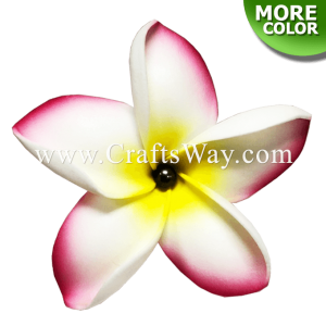FSH182-Pearl Artificial Foam Flowers, Plumeria Type JO with Pearl, size 3.5 inches