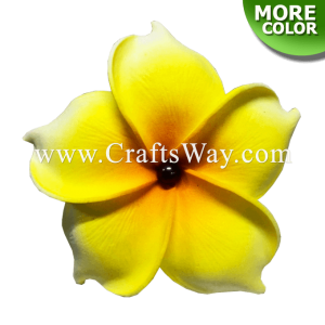 FSH193-Pearl Artificial Foam Flowers, Plumeria Type NU with Pearl, size 3.5 inches