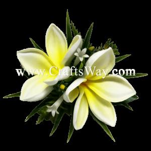CMS-075 Foam Plumeria (N) Hair Clip, Custom Made Flower Hairpiece, Hairpiece Made in Hawaii, Hair Accessories for Hawaiian Wedding Items, Hula Dancer