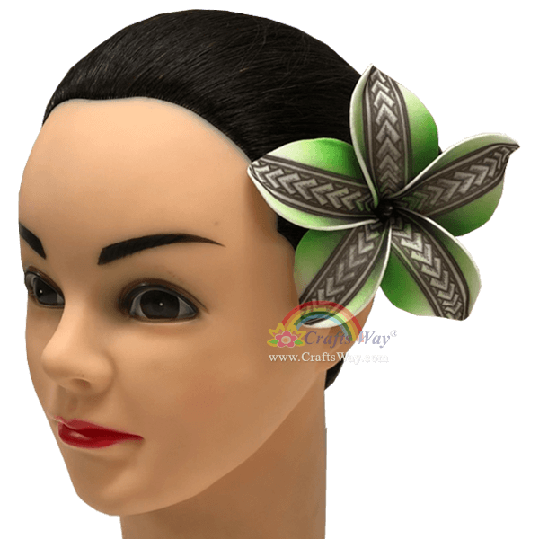 FSH194-Pearl Artificial Foam Flowers, Plumeria Type PA (Tribal) with Pearl, size 4 inches