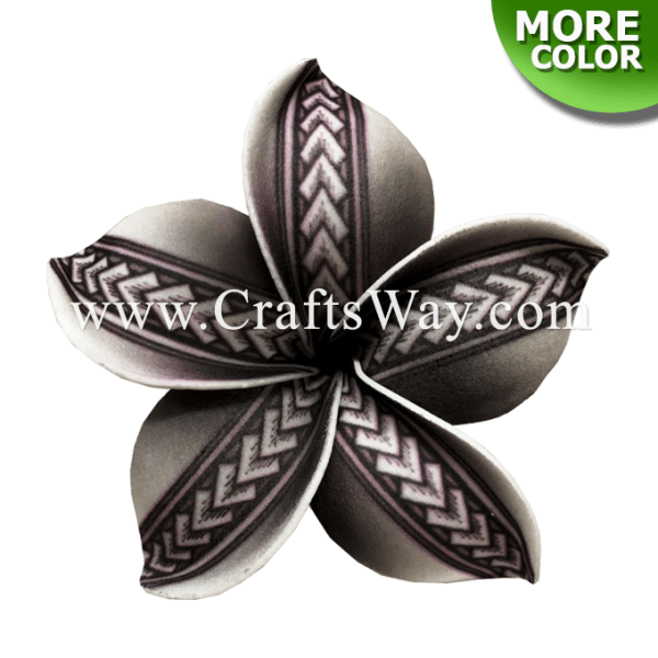 FSH194 Artificial Foam Flowers, Plumeria Type PA (Tribal), size 4 inches
