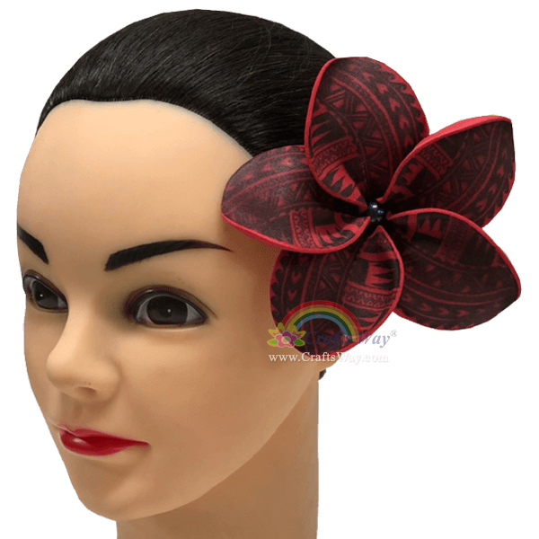 FSH195-Pearl Artificial Foam Flowers, Plumeria Type PE (Tribal) with Pearl, size 4 inches