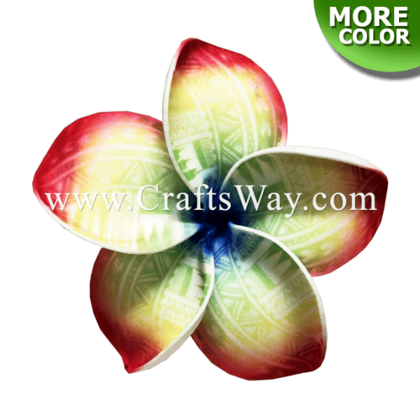 FSH195 Artificial Foam Flowers, Plumeria Type PE (Tribal), size 4 inches