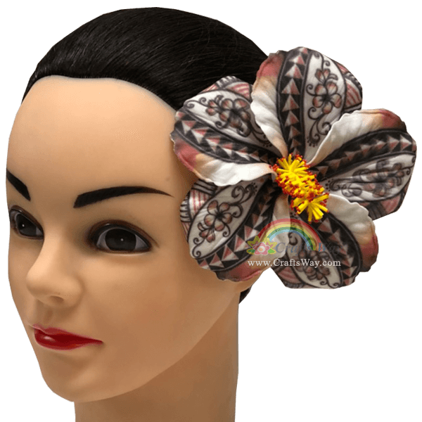 FSH520 Artificial Foam Flowers, Hibiscus Type U (Tribal), size 4.5 inches