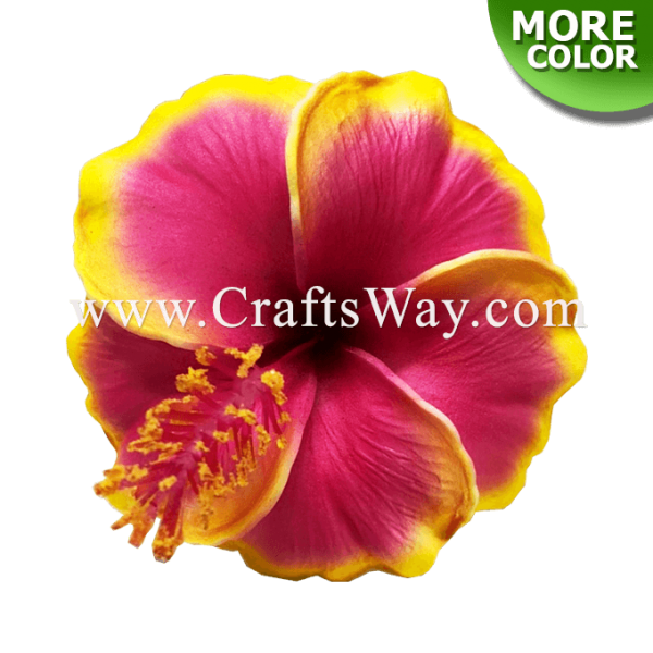 FSH521 Artificial Foam Flowers, Hibiscus Type V, size 4 inches