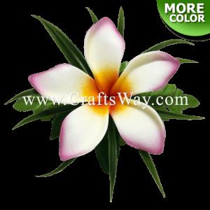 CMS-076 Foam Plumeria (PI) Hair Clip, Custom Made Flower Hairpiece, Hairpiece Made in Hawaii, Hair Accessories for Hawaiian Wedding Items, Hula Dancer